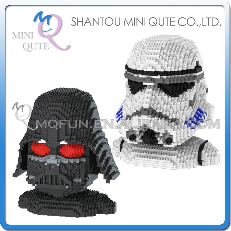 Ensemble complet 2 pièces Mini Qute YZ star wars Stormtrooper Darth Vader super hero bloc de construction en plastique pour enfants garçons cadeau éducatif jouet