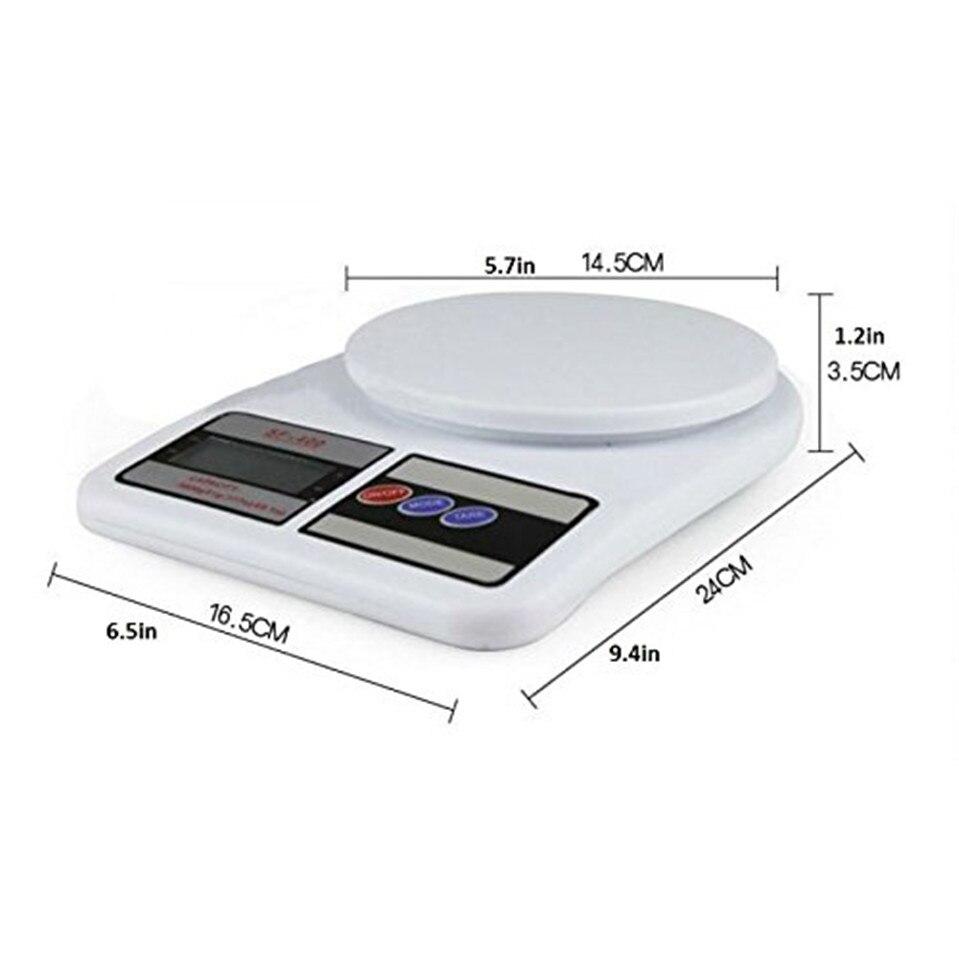 Кухонные весы, цифровые пищевые весы, высокоточные кухонные электронные весы, 10 кг x 1 г SF400-1
