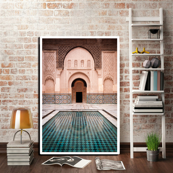 Ancient Gate Morocco Canvas Painting Print Posters Modern Pictures Wall cuadros for Living Room Office art Home Decor Unframed
