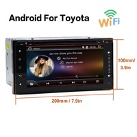 Android 6 0 1G RAM Car Dvd Player For Toyota Hilux VIOS Old Camry Prado RAV4