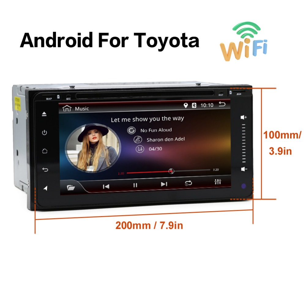 Android 6.0 1G RAM car dvd player for Toyota Hilux VIOS Old Camry Prado RAV4 Prado 2003-2008 with 4G LTE Network android 7 1 dvd player for toyota universal rav4 corolla vios hilux terios land cruiser 100 prado 4runner dvr bluetooth rear cam