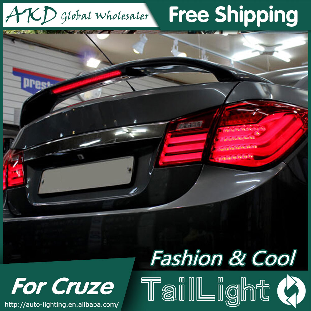 AKD Car Styling for Chevrolet Cruze Tail Lights BMW Design 2012 Cruze LED Tail Light Rear Lamp DRL+Brake+Park+Signal