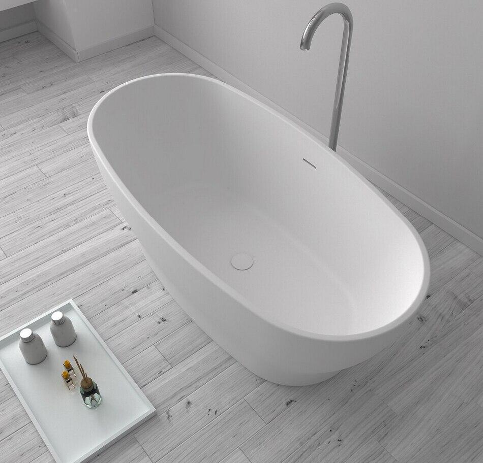 1600x850x640mm Quartz Man-made Stone CUPC Approval Bathtub Oval Freestanding Solid surface stone Tub RS65105