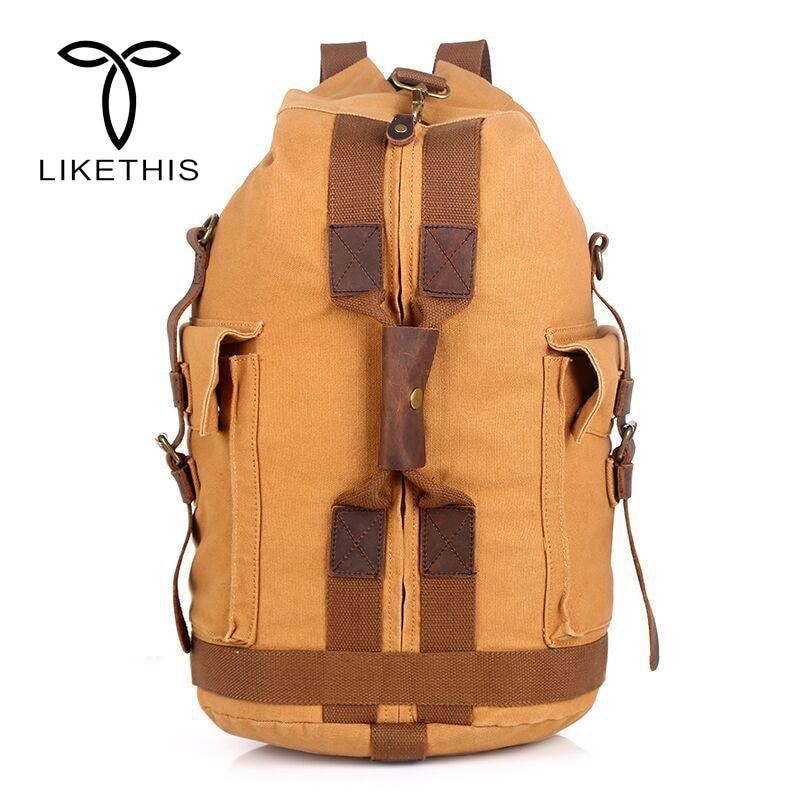 High Quality Promotion Fashion Designer Vintage Canvas Big Size Men Travel Bags Large Capacity Luggage Backpacks