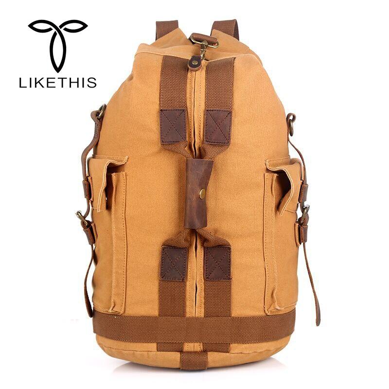 Promocja wysokiej jakości projektant mody rocznika płótno Big Size mężczyźni torby podróżne torby podróżne o dużej pojemności plecaki w Plecaki od Bagaże i torby na  Grupa 1