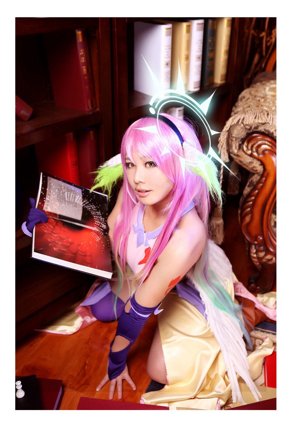 Game Anime No Game No Life Jibril Uniforms Dress Skirt Cosplay Costume Any Size Full Set Free Shipping NEW