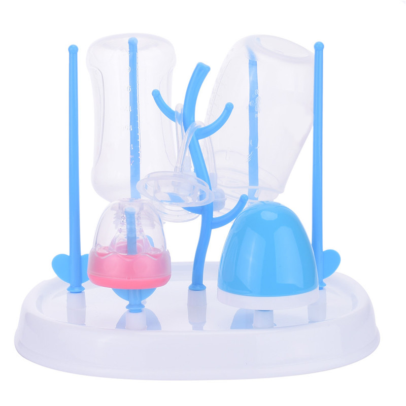 Multi-function Baby Feeding Bottle Drying Rack Antibiotic Removable Bottle Pacifier Nipple Drainer Dryer Rack Shelf PP Material