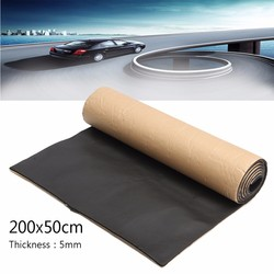 1Roll 200cmx50cm Car Sound Proofing Deadening Anti-noise Sound Insulation Cotton Heat Closed Cell Foam Interior Accessories