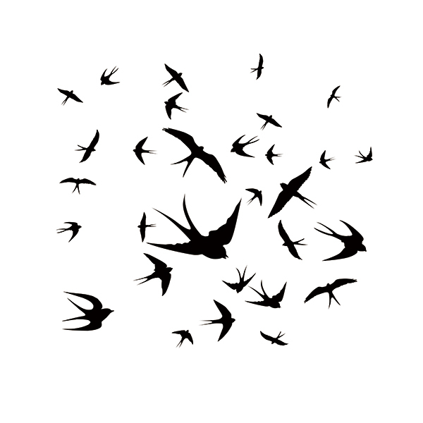 Set Of 36 X Swallow Birds Car Sticker Art Vinyl Decal For  Kids Child Room Window Wall Stickers 9 Colors cartoon horse nursery girls bedroom wall decal sticker art vinyl wall stickers for kids room living room vinilos paredes