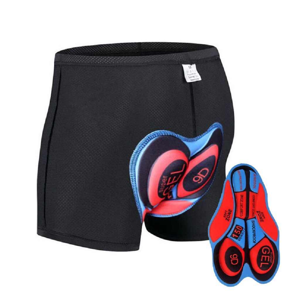 Pantalones cortos de ciclismo para Hombre Ropa interior de ciclismo Pro 9/12/19D Gel acolchado a prueba de golpes negro ciclismo pantalones cortos de bicicleta ropa de moto
