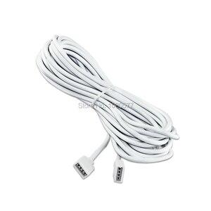 Image 5 - 1 20 sztuk biały/czarny kobieta taśmy LED złącze kabla 4Pin przedłużacz 30cm 50cm 1m 2m 3m 5m dla 3528 5050 taśmy LED rgb