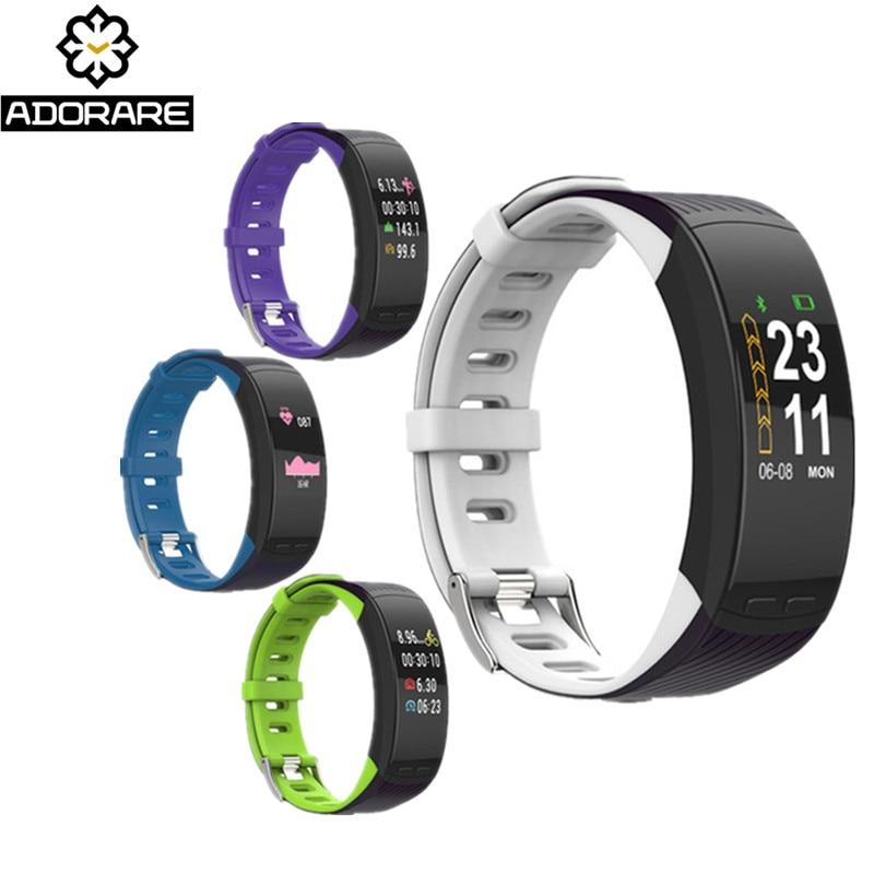 все цены на ADORARE Smart Sport Bracelet GPS Men Women Fitness Activity Tracker Heart Rate Monitor Smart Wristwatch For IOS Android