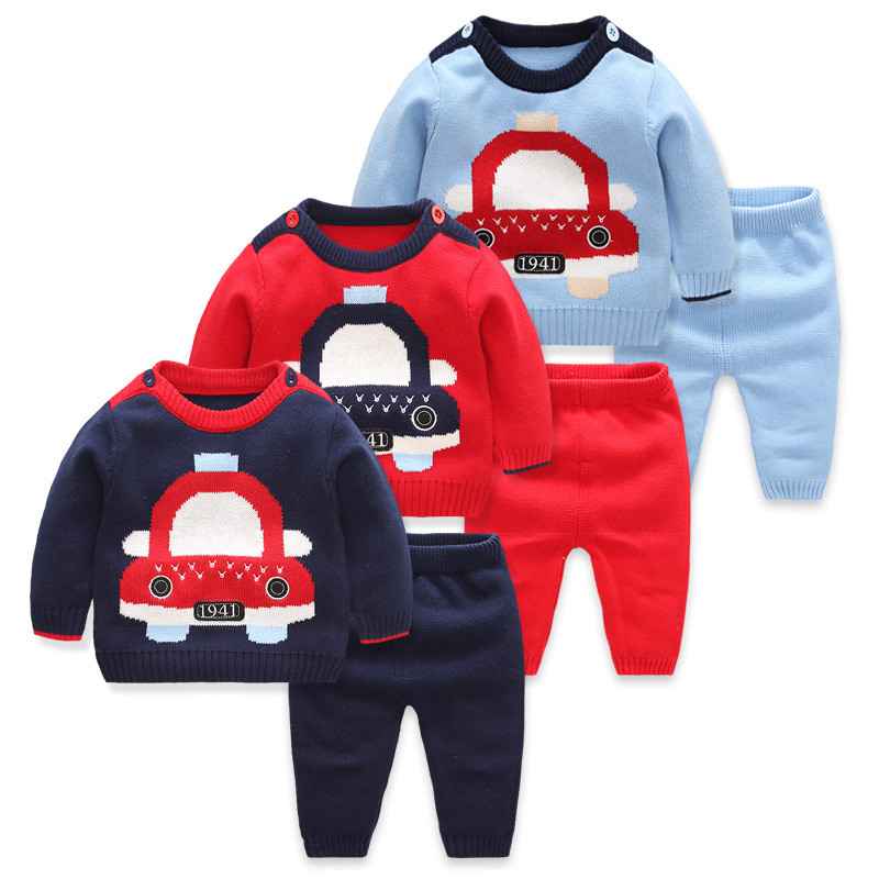 2018 Baby Boys Girls Set Bodys Bebes Cotton Infant Clothes Baby boys suit sweater+pants 2pcs Children Clothing Kids Newborn Top 2017 new brand newborn toddler infant baby boys girls fashion striped hoodies autumn warm clothes 2pcs sweater suit