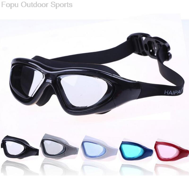 Professional Large Frame Silicone Underwater Waterproof Anti Fog UV Protection Swim Pool Swimming Goggles Water Glasses Eyewear in Swimming Eyewear from Sports Entertainment