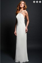 free shipping new fashion maxi 2014 brides vestidos formal evening gown backless plus size white long beaded Graduation Dresses plus size beaded maxi long coat
