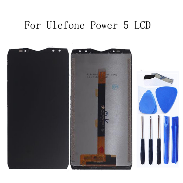 6.0 inch For Ulefone power 5 LCD Display Touch screen digitizer replacement Accessories For Ulefone power 5 Assembly Phone Parts