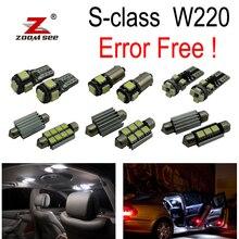 24 шт. светодиодный светильник подкладке+ номерных знаков свет полный комплект для Mercedes Benz S class W220 S500 S600 S55AMG s63AMG S65AMG(99-05