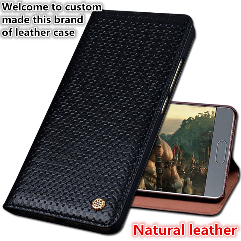 YM01 Magnetic Genuine Leather Flip Case For Meizu Pro 6 Plus(5.7') Phone Case For Meizu Pro 6 Plus Cover Case