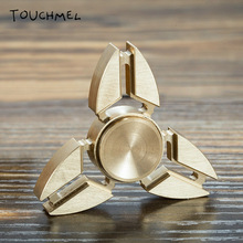 TOUCHMELที่มีคุณภาพสูงมือปั่นทองเหลืองอลูมิเนียมอยู่ไม่สุขปินเนอร์โลหะEDCของเล่น