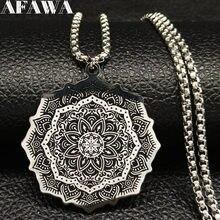 2020 mode Wicca Lotus en acier inoxydable chaîne collier pour hommes couleur argent noir déclaration collier bijoux bijuterias B18204