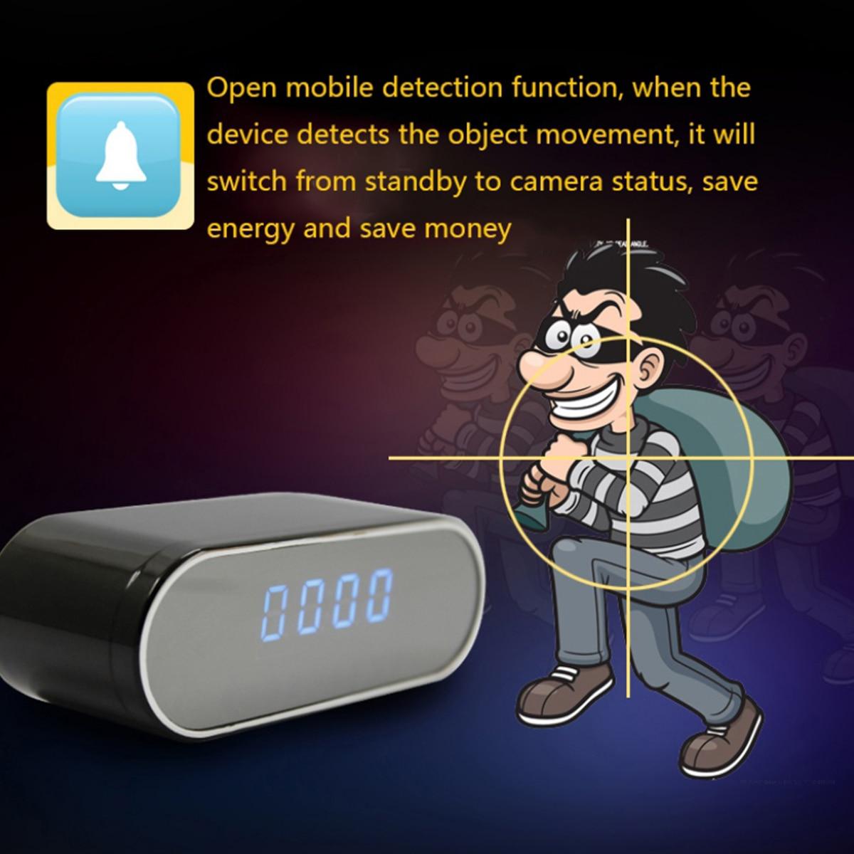 Image 5 - New 1080P HD Clock Camera WIFI Control Concealed IR Night View  Alarm Camcorder PK Z16 Digital Clock Video Camera Mini DV DVRMini  Camcorders