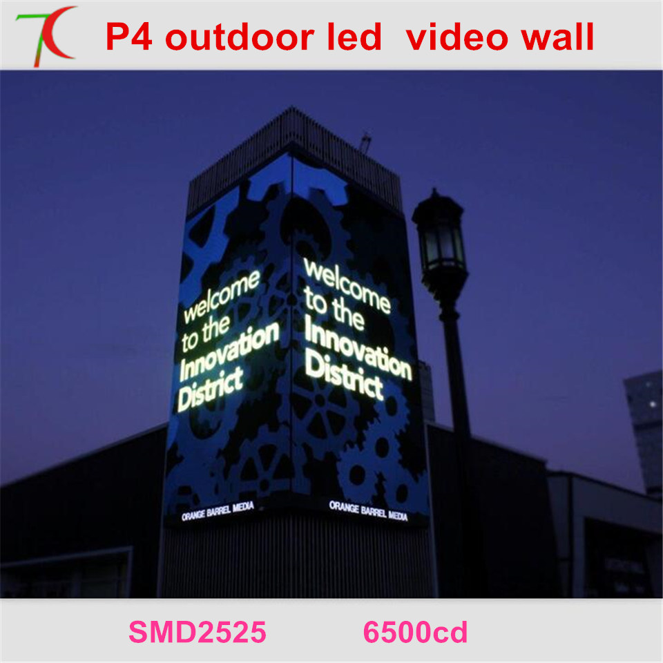 Free Installation Method Of P4 Outdoor Full Color Led Video Wall For Advertising