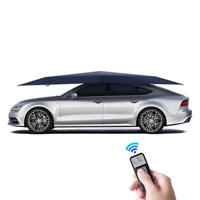 4.2M Automatische Auto Paraplu Outdoor Auto Tent Draagbare Paraplu Zonnedak Cover Uv bescherming Kits Zonnescherm Met Afstandsbediening