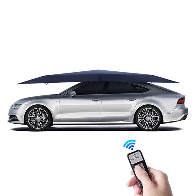 4.2M אוטומטי רכב מטריית אוהל רכב חיצוני נייד מטריית גג שמש כיסוי UV הגנה ערכות שמש צל עם שלט רחוק