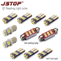 JSTOP 11piece/set Q7 led reading bulbs canbus BA9S T4W reading lamp T10 w5w led car 6000k 12V c5w led 41mm festoon Trunk light