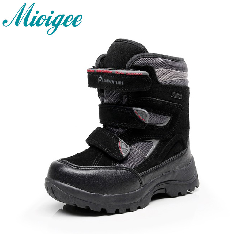 Mioigee 2017 Russia winter -30 degrees waterproof non-slip kids snow boots children winter shoe boys boots outdoor warm botas 30 degree russia winter warm baby shoes fashion waterproof children s shoes girls boys boots perfect for kids accessories