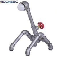 BOCHSBC Art Deco Table Lights American Water Pipe Table Lamp LED Light for Living Room Study Room Bedside Bedroom Bar Desk Lamp|LED Table Lamps| |  -