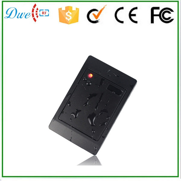 все цены на Free shipping black color rainproof 125khz id card reader wiegand 26 wiegand 34 interface for door access control system