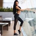 Pure Color Wrapped Chest Vest Stitching Pants Suit Sexy Stretch Skinny Slim Fitness Workout Female For Ladies