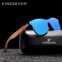 Мужские и женские очки ручной работы KINGSEVEN, деревянные поляризационные зеркальные солнцезащитные очки с винтажным дизайном, UV400, 2019