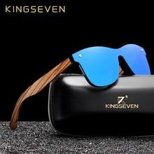 Kingseven 2019 Handgemaakte Houten Brillen Gepolariseerde Spiegel Zonnebril Mannen Vrouwen Vintage Design Oculos De Sol Masculino UV400