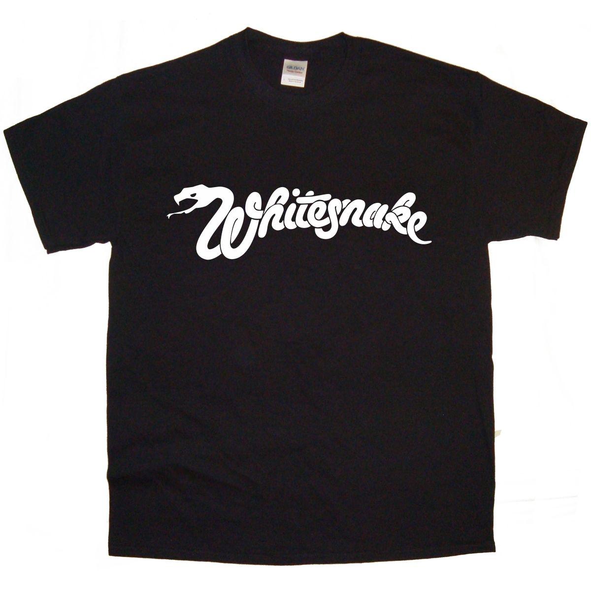 T shirt whitesnake - Whitesnake Band Logo Rock Thrash Black Heavy Metal Punk Pop T Shirt Tee