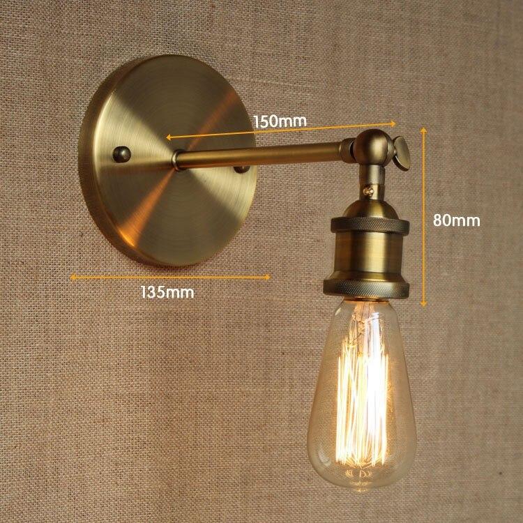 American wall light bathroom light high quality vintage Loft lamp ...