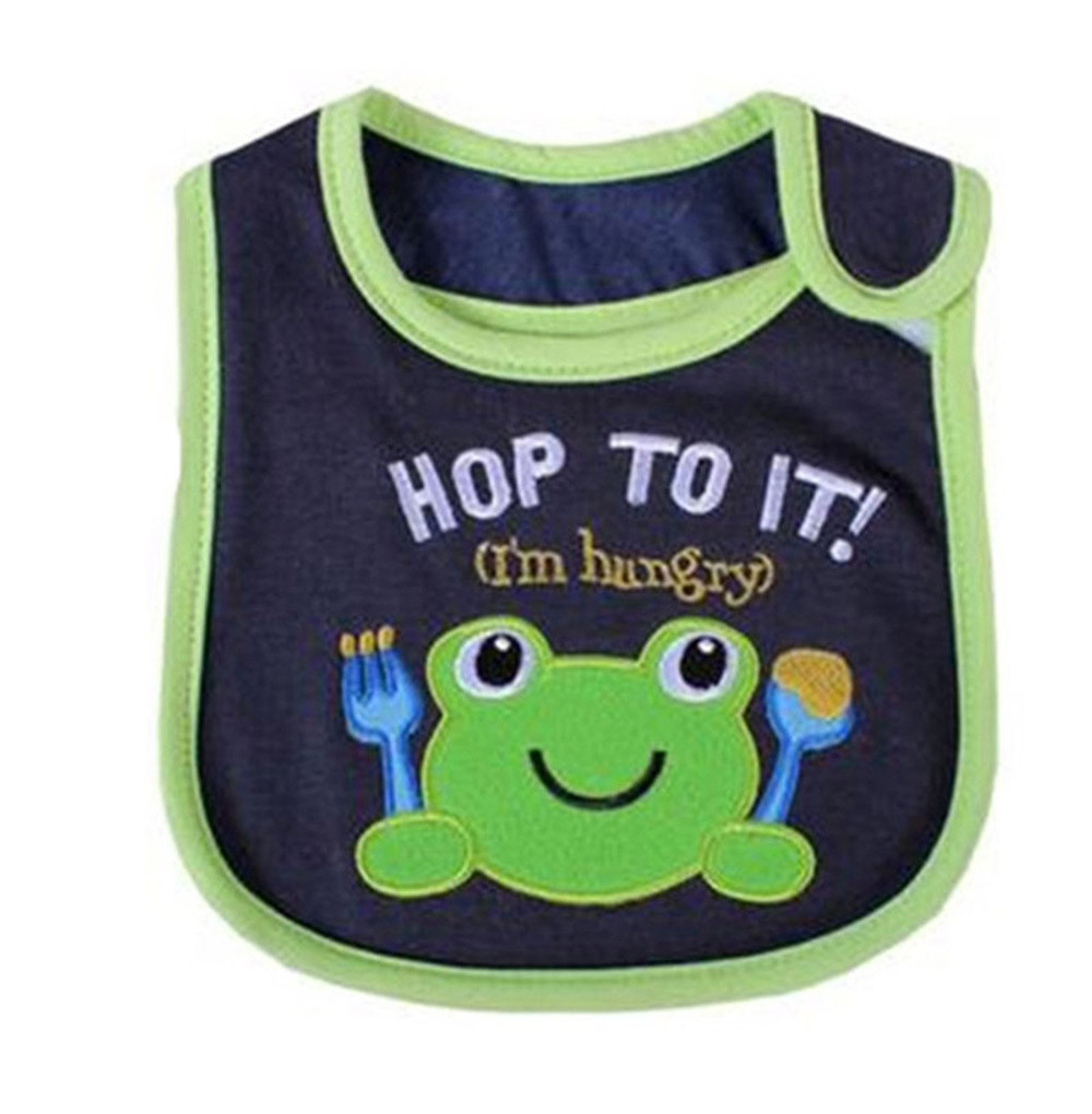 CHAMSGEND Drop Ship Lovely Cute Cartoon Pattern Toddler Baby Waterproof Saliva Towel Baby Bib Sep25HY ...