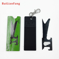 10pcs Lots Multi Functional Knife Card Unique Knife Key Wallet Tool Portable Camping Survival Novelty Designed