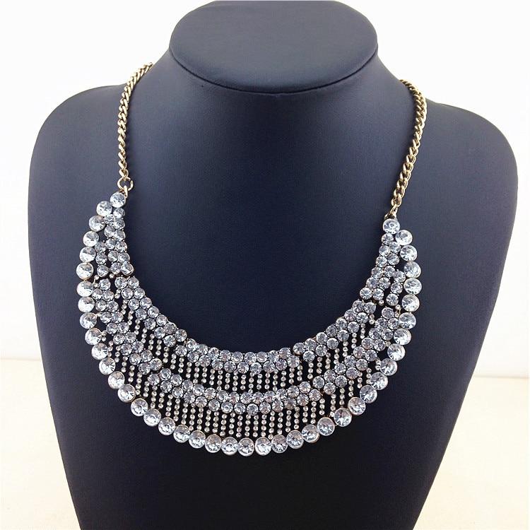 Unique Bohemian Style Design Fashion Necklace Noble Crystal Glam Women Statement Necklace Factory Price Necklaces & Pendants