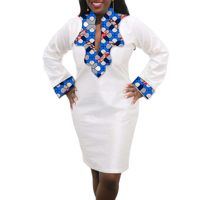 Femmes Robe Africaine Custom Made Dashiki Imprimer Vêtements Cire Et - Vêtements nationaux - Photo 6