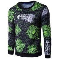 Nowy jesień zima moda męska bluza z kapturem dorywczo bluza męska odzież sportowa męska kurtka sportowa s męska cyfrowy drukowanie