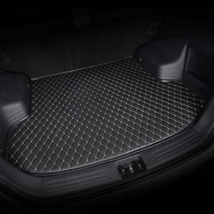 Image 2 - HeXinYan Custom Car Trunk Mats for Mitsubishi All Models ASX outlander pajero grandis pajero sport lancer galant Lancer ex