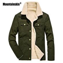 Moutainskin зимние куртки мужские парки 4XL толстые повседневные пальто мужская верхняя одежда теплая флисовая куртка мужская брендовая одежда SA420