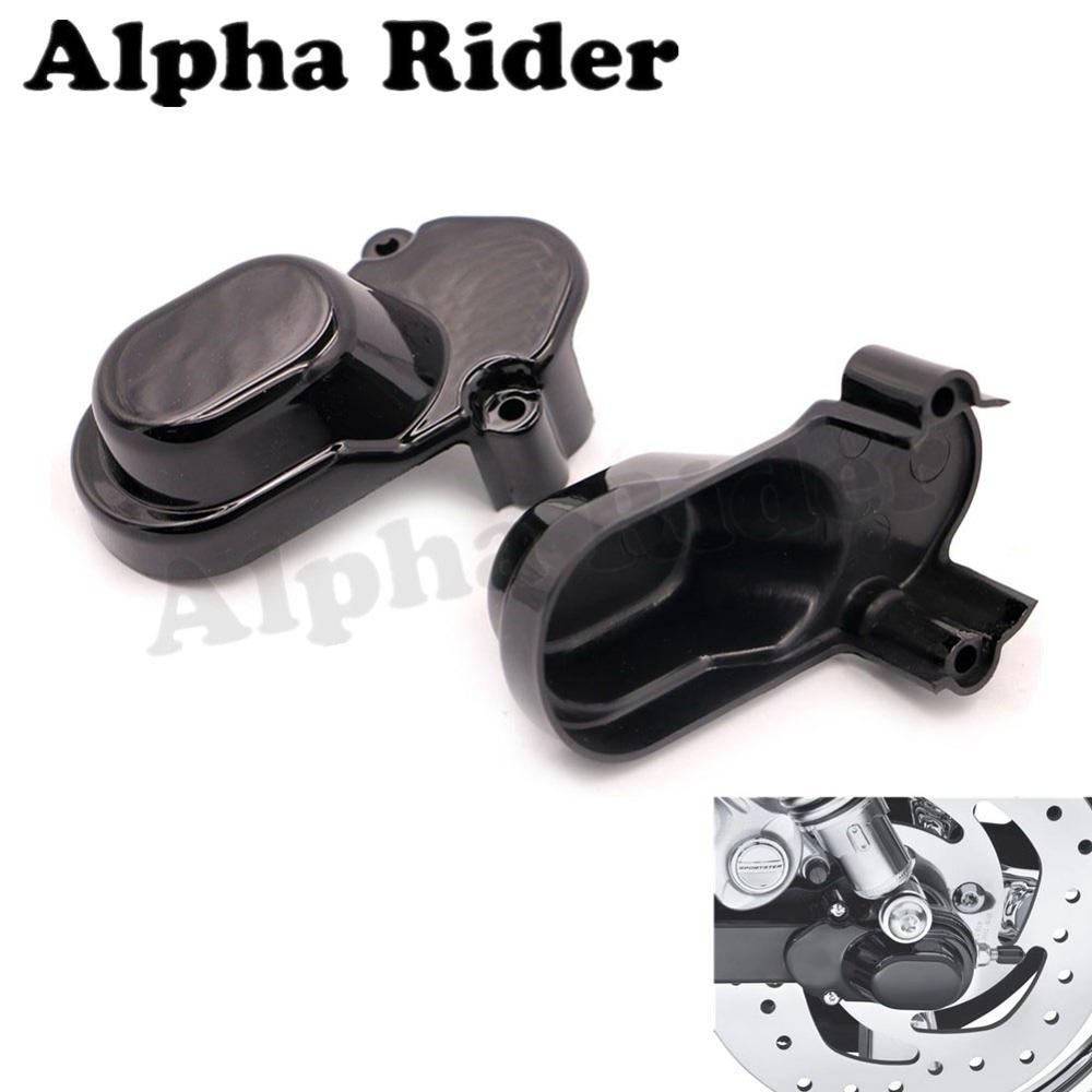 Pair ABS Rear Wheel Axle Cover for Harley Forty Eight Seventy Two Iron Superlow 883 Sportster 1200 Low Nightster Roadster Custom