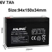6V 7AH Rechargeable Batteries Lead Acid Storage Batteries for Children's Electronic Toy Car Desk Lamp LED Light Device