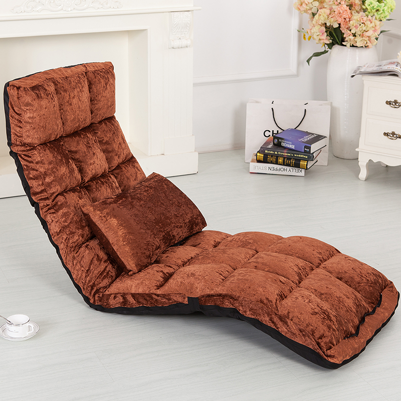 Floor Lounger 14 Position Adjsutable 4 Colors Fabric Chaise Lounge Living  Room Furniture Sleeper Daybed Sofa