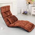 Suelo Ocioso 14 Posición Adjsutable 4 Colores de la Tela Muebles de Sala de Día Cama Chaise Lounge Sofá Silla Tumbona
