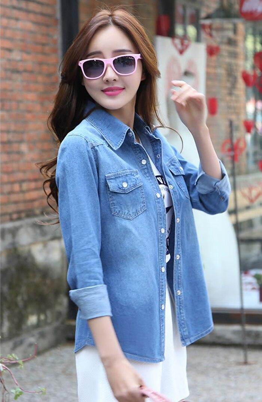 design s 2xl 2015 new fashion plus size womens denim shirt tops