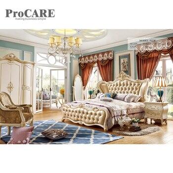 Lit en bois royal design classique tête de lit lits design européen ...